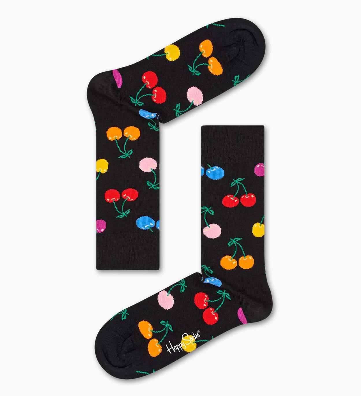 Black socks: Cherry pattern | Happy Socks