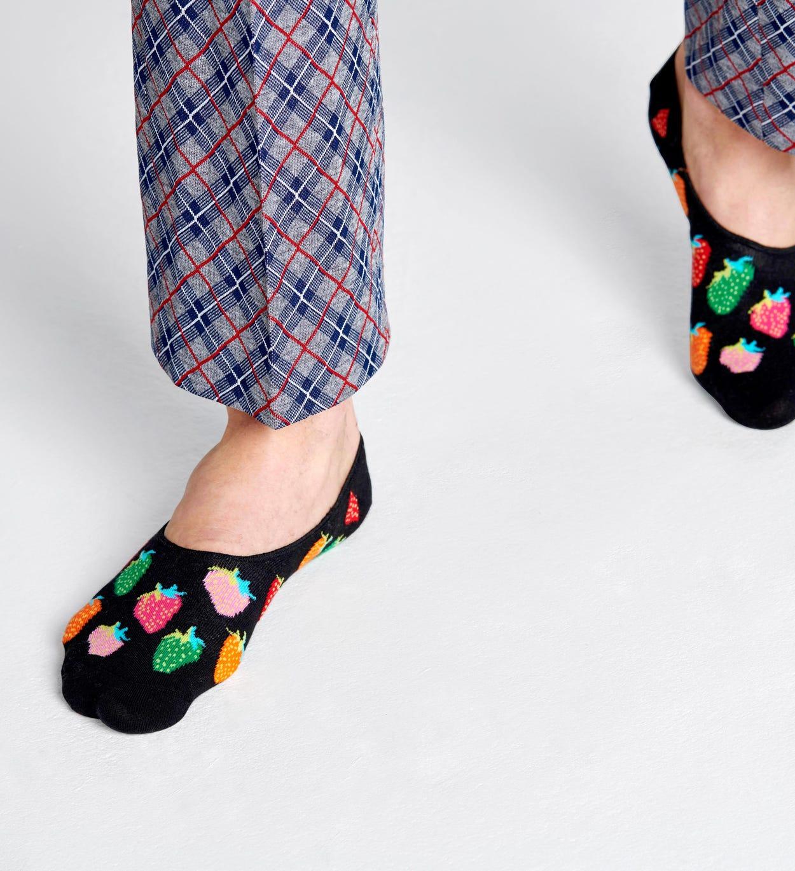 Strawberry Füßlinge, Schwarz   Happy Socks