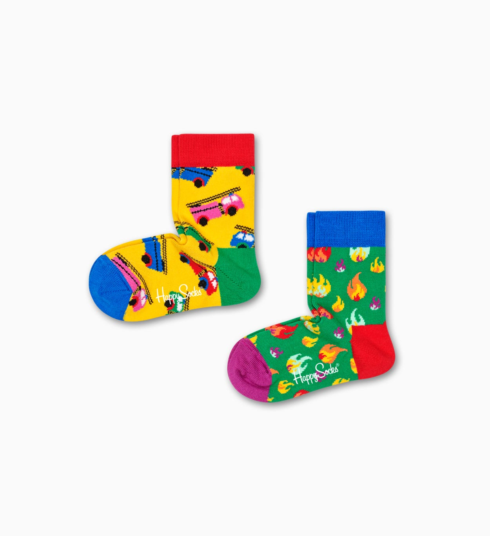 Kinder-   Babysocken: Feuer, Gelb | Happy Socks