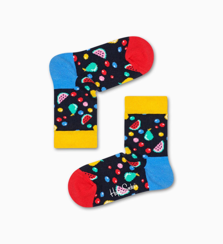 Schwarze Baby-Socken - 2er Pack: Cherry   Happy Socks