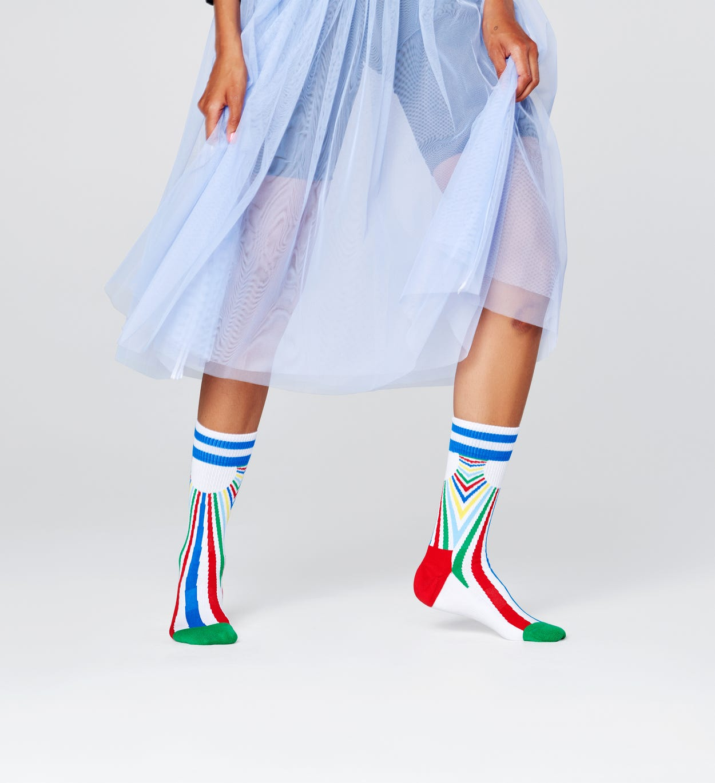 Sunset Socken, Weiß - ATHLETIC   Happy Socks
