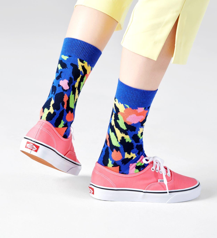 Leopard Socken, Lila | Happy Socks