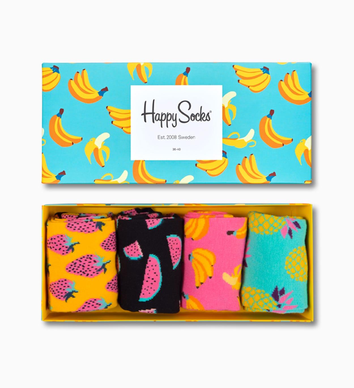 Gaveboks med sokker Frukt 4-PACK: Fruits | Happy Socks