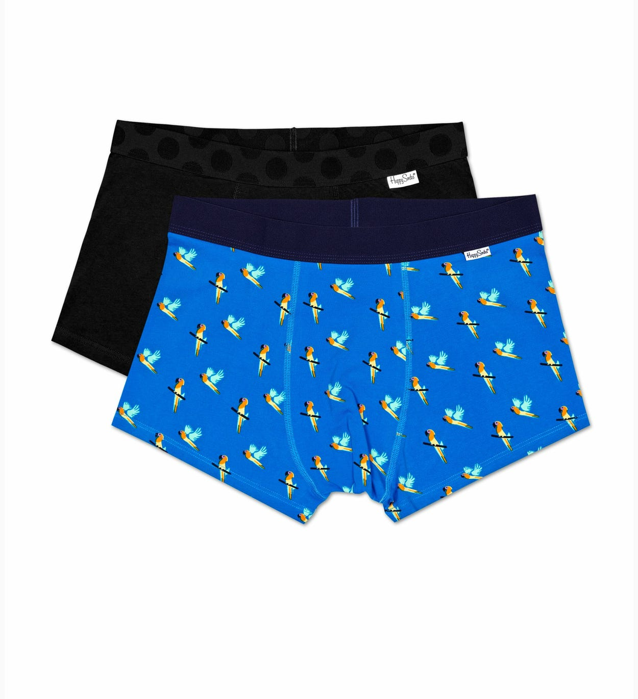 2er-Pack Papagei Trunk, Blau - Herrenunterwäsche   Happy Socks