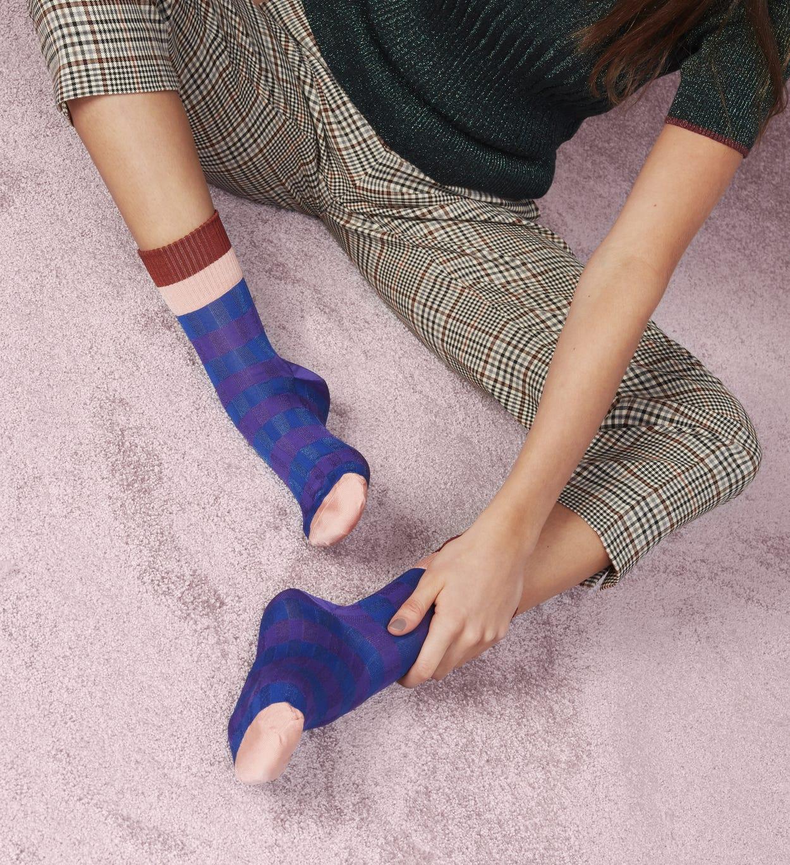 Blaue niedrige Socken: Helen | Hysteria by Happy Socks
