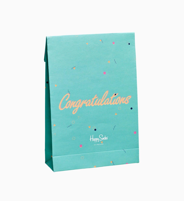 Gift Bag als Geschenkverpackung: Congratulations   Happy Socks