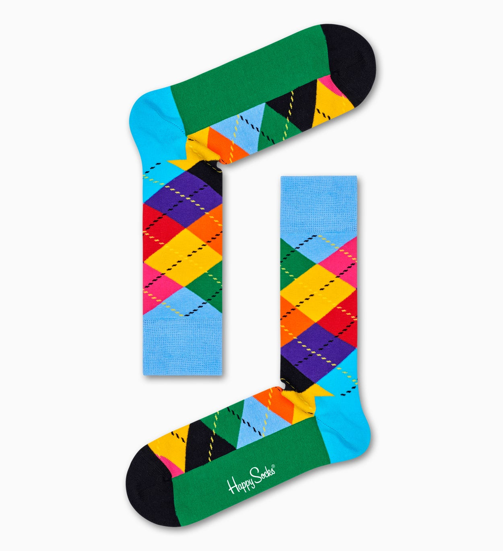 Argyle Socken, Grün   Happy Socks