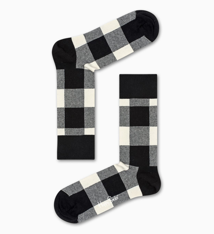 Black socks: Gingham pattern   Happy Socks