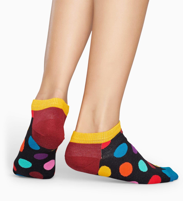 Dunkelgraue Low Socken: Big Dot | Happy Socks