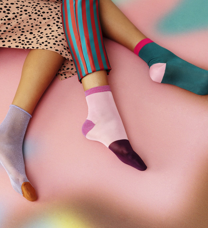 Grüne mittelhohe Socken: Margret - Hysteria   Happy Socks