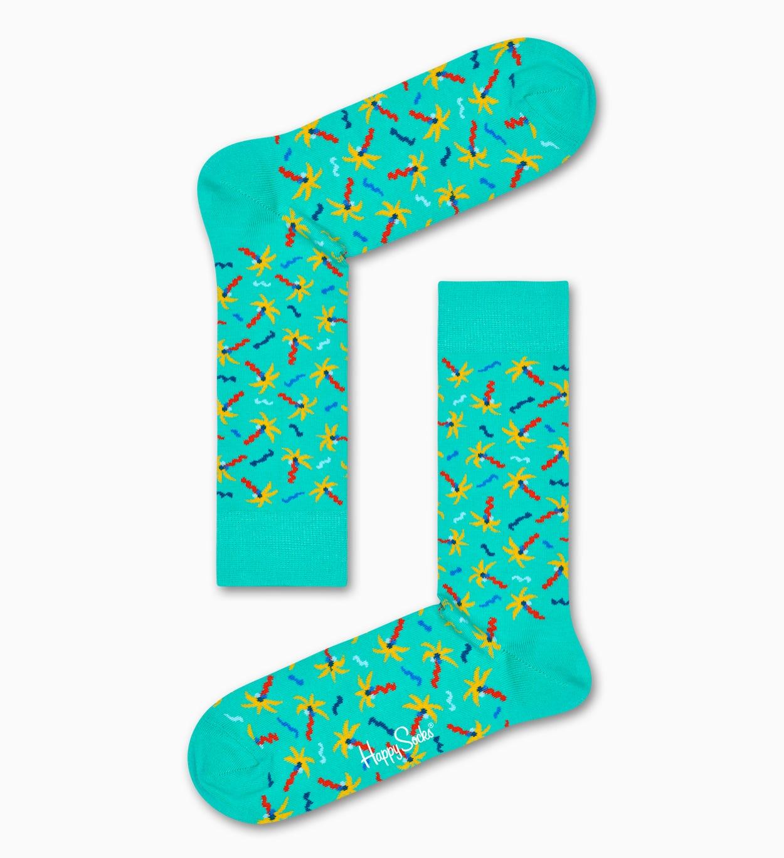 Confetti Palm Socken, Türkis   Happy Socks