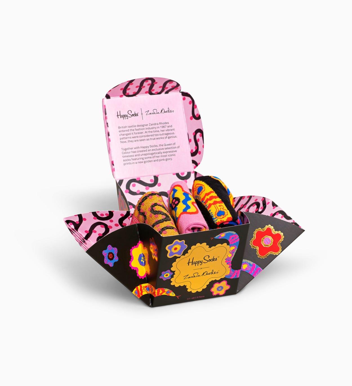 Zandra Rhodes 3 pack Gift Set | Happy Socks