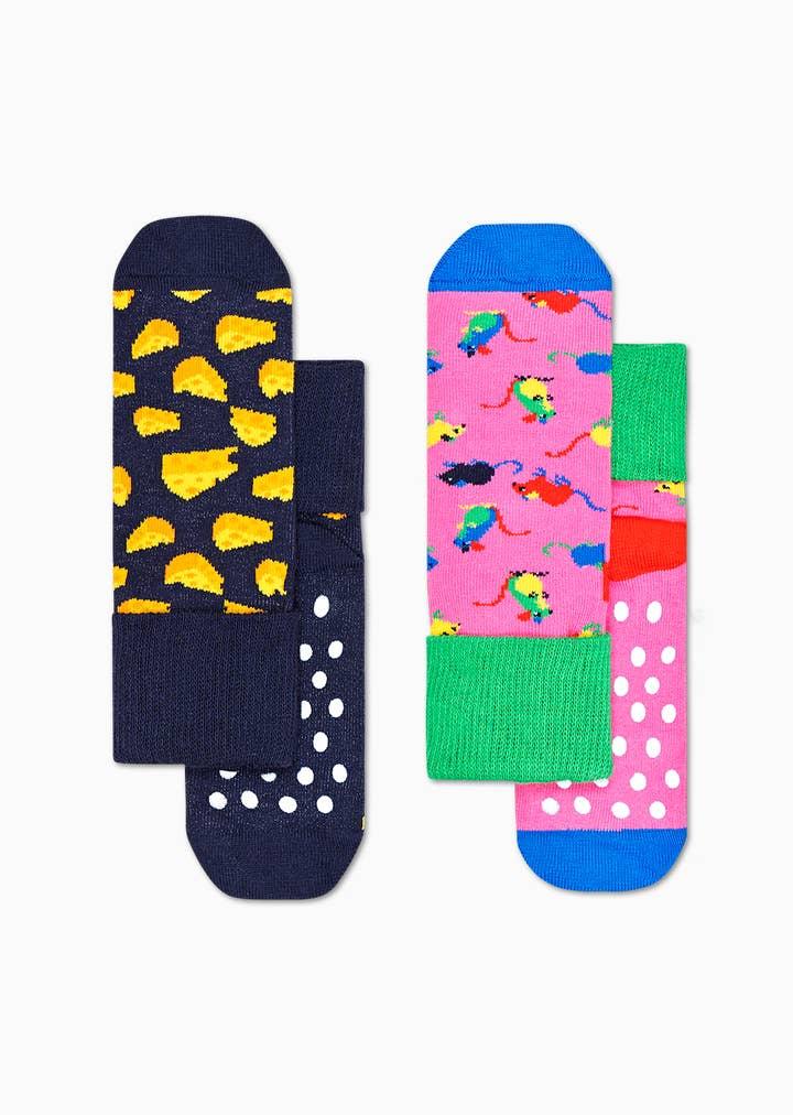 2-Pack Kids Mouse Anti-Slip Socks