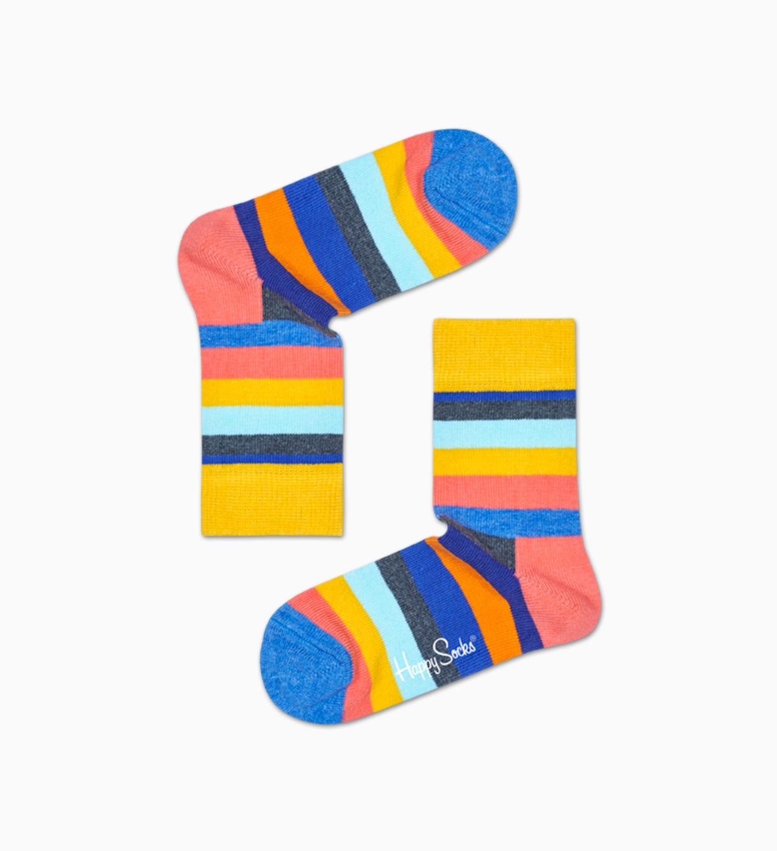 Gelbe gestreifte Baby Socken: Stripe | Happy Socks