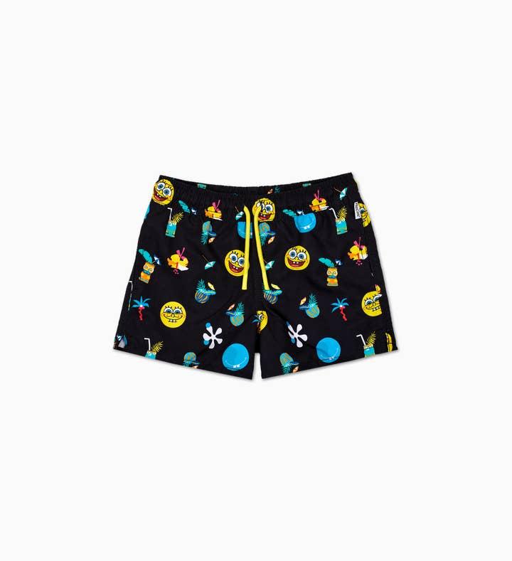 Kids SpongeBob Black Swim Shorts