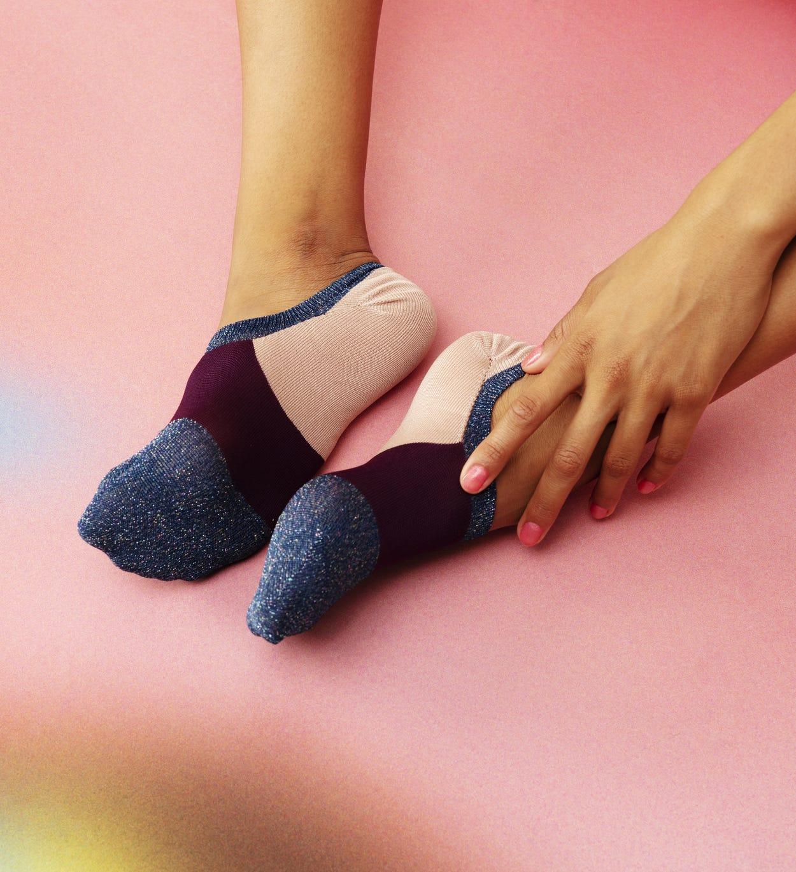 Blaue Sneaker Socken: Isa - Hysteria | Happy Socks