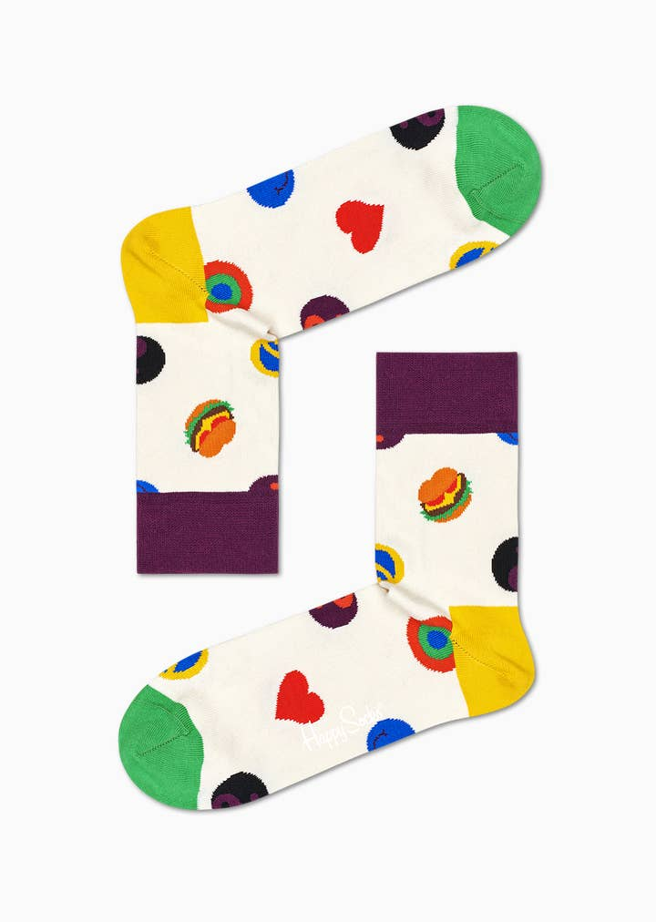 Symbol Dot 1/2 Crew Sock